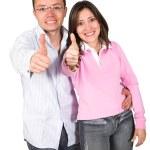 casal com uma atitude positiva — Foto Stock