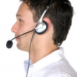 Casual customer service guy - Stock Photo
