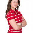 Casual girl in red — Stock Photo #7706539
