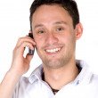 Stock Photo: Guy making a phone call