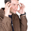 Casual guy very stressed — Stock Photo #7706600