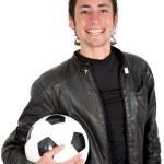Casual footballer — Stock Photo