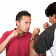 Casual guys arguing - Foto Stock