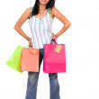 Beautiful girl with shopping bags — Foto Stock