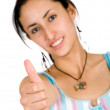 Girl - thumbs up — Stock Photo #7706699