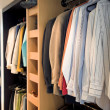 Changing room - wardrobe - Stock fotografie