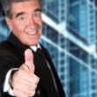 Business man thumbs up - 