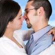 Couple in love - clipping path — Stock Photo