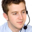 Business customer service guy - Stock Photo