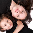 Mother and daughter on the floor — Stock Photo