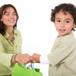 Happy kid receiving gift — Stock Photo #7706784