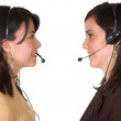 Stock Photo: Customer support face to face