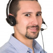 Friendly customer operator — Stockfoto