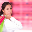 Business woman shopping - Stock Photo