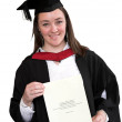 Graduate with diploma - Stock Photo