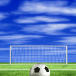 Foto Stock: Football - penalty kick