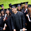 Stock Photo: Graduates portrait