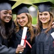 Graduation girls — Stock Photo