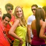 Friends in a nightclub — Stock Photo