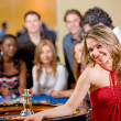 Stock Photo: Woman in a casino
