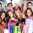 Stock Photo: Friends shopping