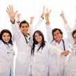 Very happy group of doctors — Stock Photo