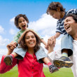 Family having fun - Stock Photo