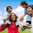 Stock Photo: Family having fun
