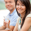Couple at a bar — Stock Photo