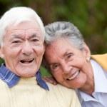 Couple of elders — Stock Photo