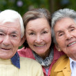 Old couple and their daughter — Stock Photo