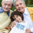Stock Photo: Child and grandparents