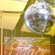 Bar sign with a couple of disco spheres — Stock Photo