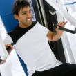 Man at the gym - Foto Stock