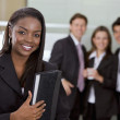Business woman and her team — Stock Photo #7707450