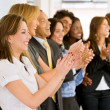 Business team clapping — Stock Photo #7707491