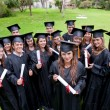 Stock Photo: Graduation students