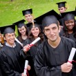 Grad students — Stockfoto
