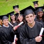 Grad students — Stock Photo