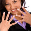Foto Stock: Business woman's hands