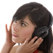 Woman listening to music — Stock Photo #7707612