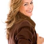 Casual woman portrait smiling — Stock Photo #7707633