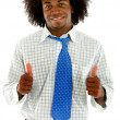 Casual man with thumbs up — Stock Photo #7707676