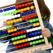 Stock Photo: Children with abacus