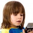 Children texting — Stock Photo #7707897