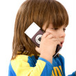 Children on the phone — Stock Photo