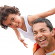 Father and son having fun - Foto Stock