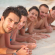 Friends at the beach — Stock Photo #7708035