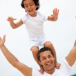 Father and son having fun — Stock Photo #7708077