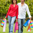 Shopping couple - Stock Photo
